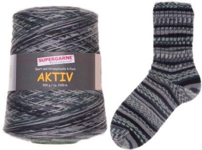 Aktiv Sock Yarn 500g Cone color Polar Night NORWAY BLACK 1