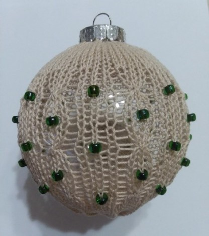 Bonnie & Vickie's Cabled and Beaded Ornament 1