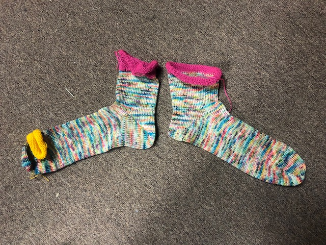 Toe Up Short Socks 38