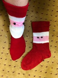 Santa Socks by Lurlie Scheu 1