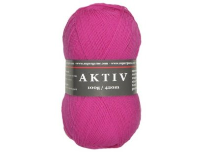 Aktiv Solid Sock Yarn 4 ply 100g Ball Color Fuchsia 1
