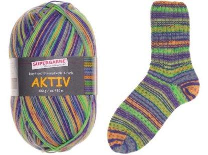 Aktiv Sock Yarn Bundle 4 100g skeins ZIG & ZAG 7