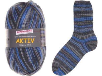 Aktiv Sock Yarn Bundle 3 100g skeins ZIG & ZAG 4