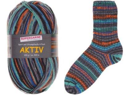 Aktiv Sock Yarn Bundle 3 100g skeins ZIG & ZAG 3