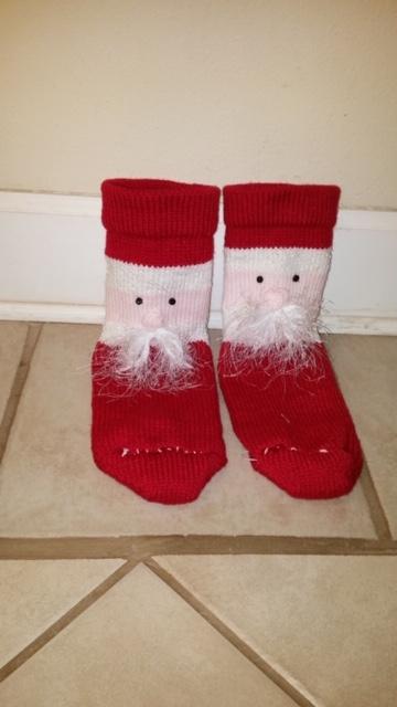 Santa Socks by Lurlie Scheu 2