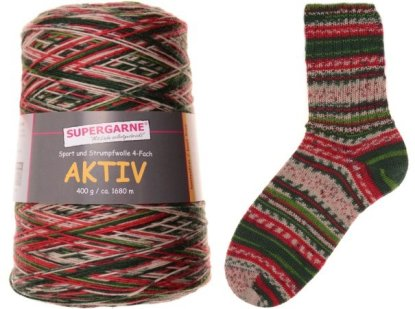 Aktiv 400g Cone Christmas I (with lime green) 1