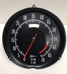 1972 1973 1974 Corvette Tachometer Assembly 6000 RPM
