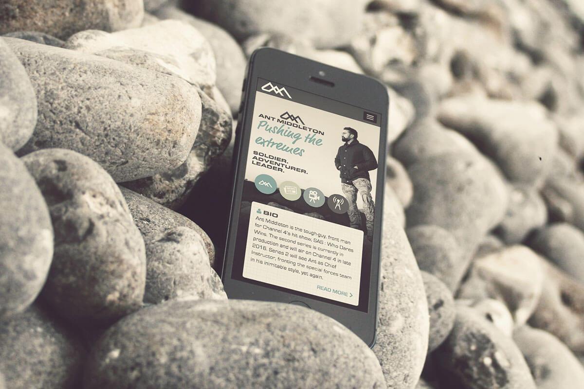 Ant Middleton Mobile Website