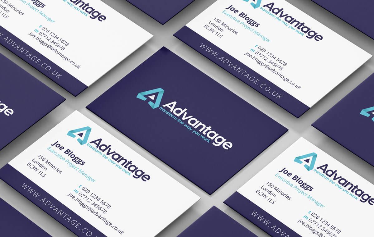 advantage business cards