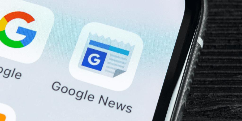 Google News SERP Testing EU Directive