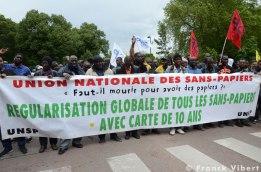 Manifestation unitaire pour la fermeture des centres de rétention et des HOTSPOTS en Europe. Paris à Vincennes, 18/06/16 © Franck Vibert.