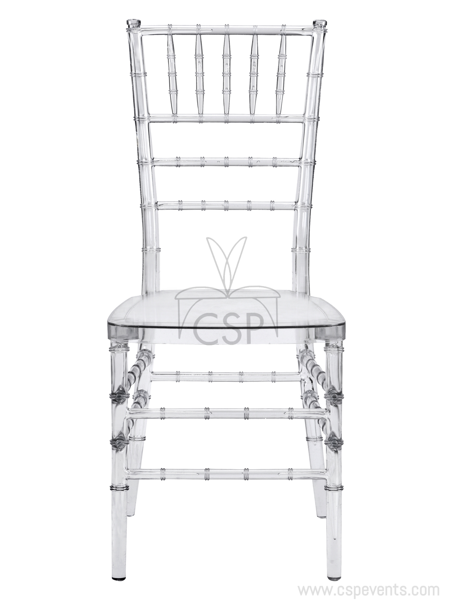 Mirage Clear Stackable Chiavari Chair Csp