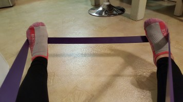 purple exercise band 3