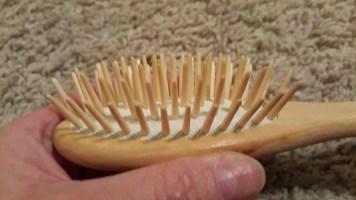 Wood hair brush 2