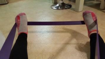 purple exercise band 3
