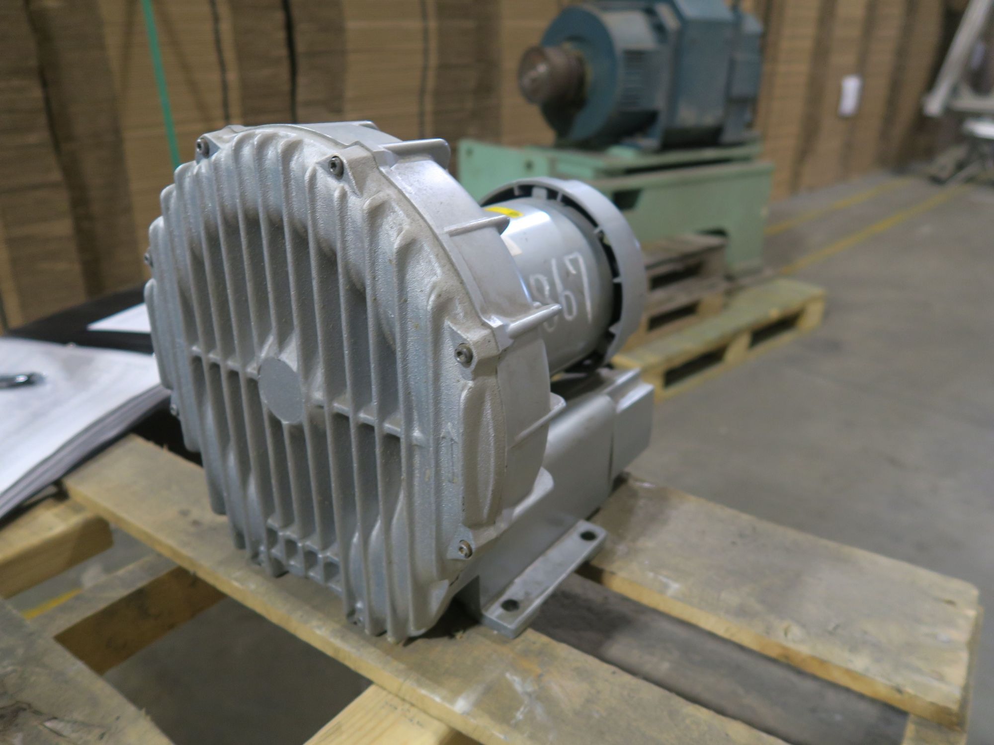 hight resolution of pre owned regenerative blowers gast idex r4310a 2 1hp 3600 rpm for sale