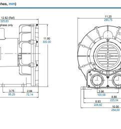 pre owned regenerative blowers gast idex r4310a 2 1hp 3600 rpm for sale [ 1695 x 909 Pixel ]