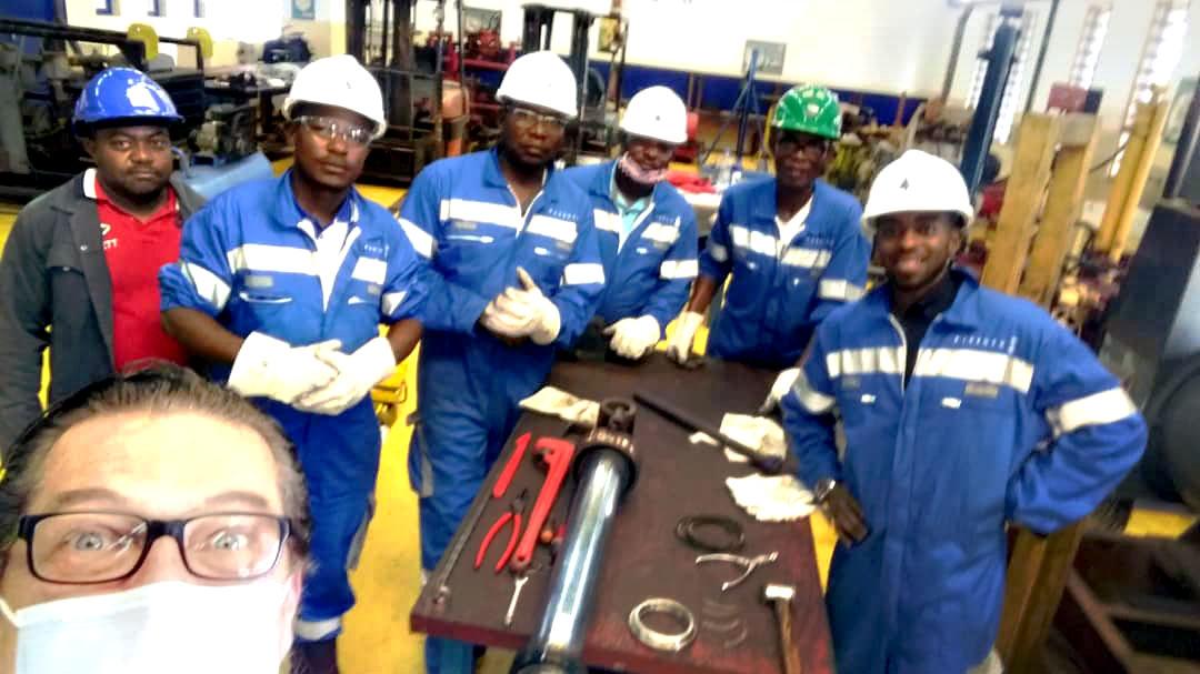 Agents Perenco Oil et Gas Gabon et formateurs