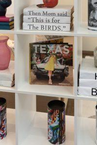 Bookshelf with Texas book center