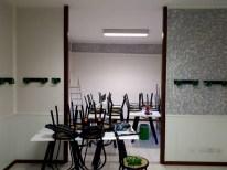 Le pareti sono asciugate, i nostri lavoratori si sono dedicati alla decorazione delle pareti , dandogli un effetto spugnato. Il risultato è stupendo.
