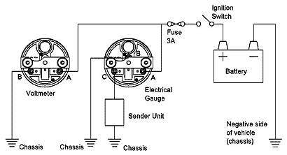 Electric Temperature Gauge Wiring Diagram. how to install