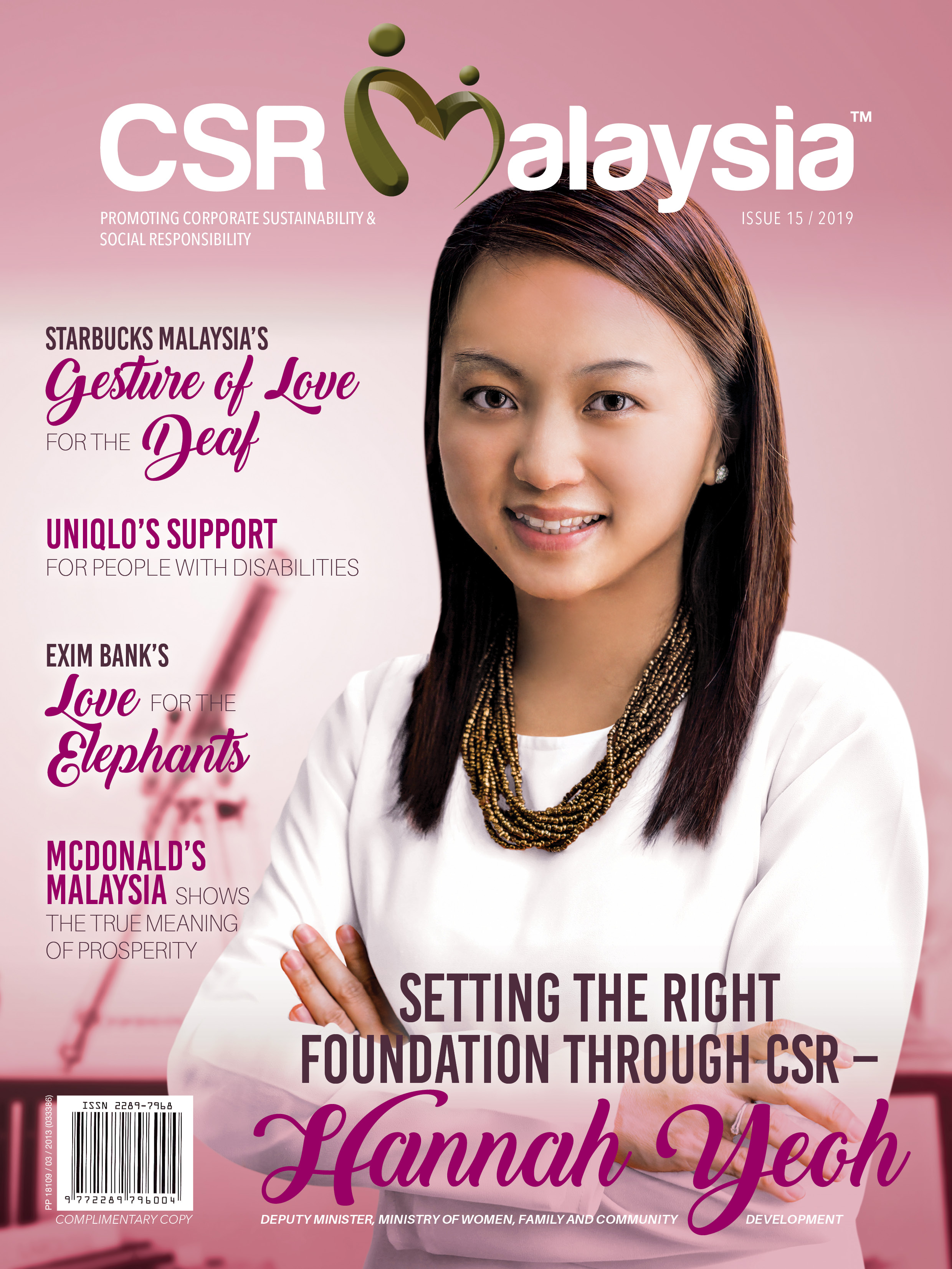 CSR Malaysia Issue 15 HANNAH YEOH, MINISTRY OF WOMEN, FAMILY AND COMMUNITY DEVELOPMENT