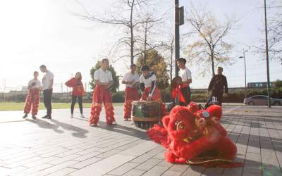 Wushu demonstratie