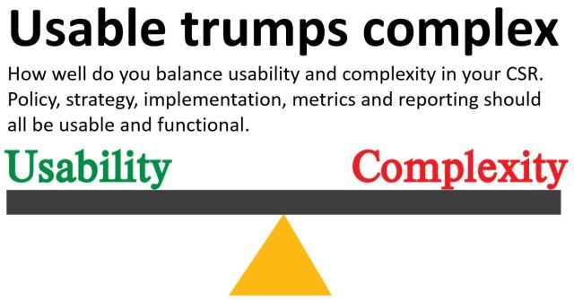 Usable trumps complex