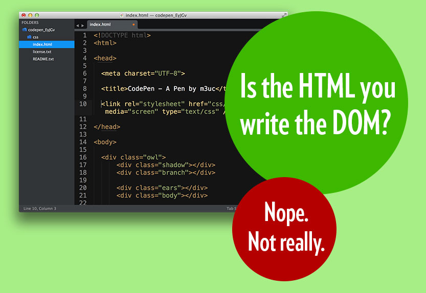 Is HTML the DOM? Not really.