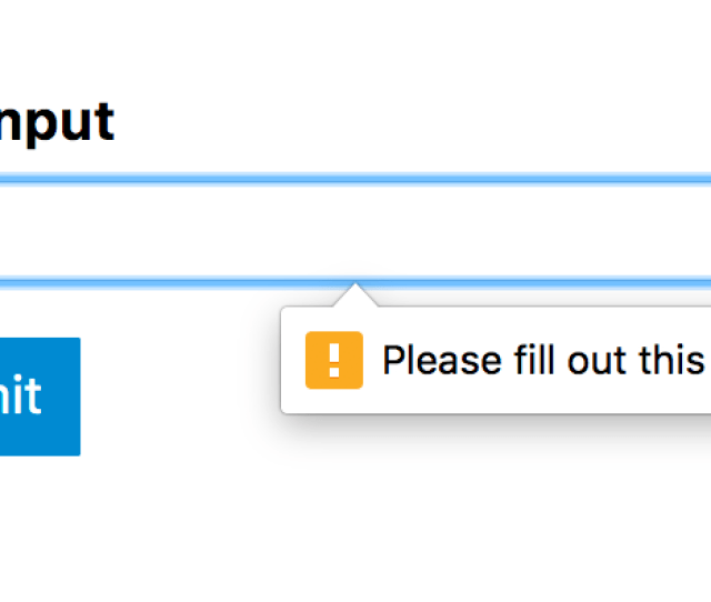 A Required Text Input In Chrome