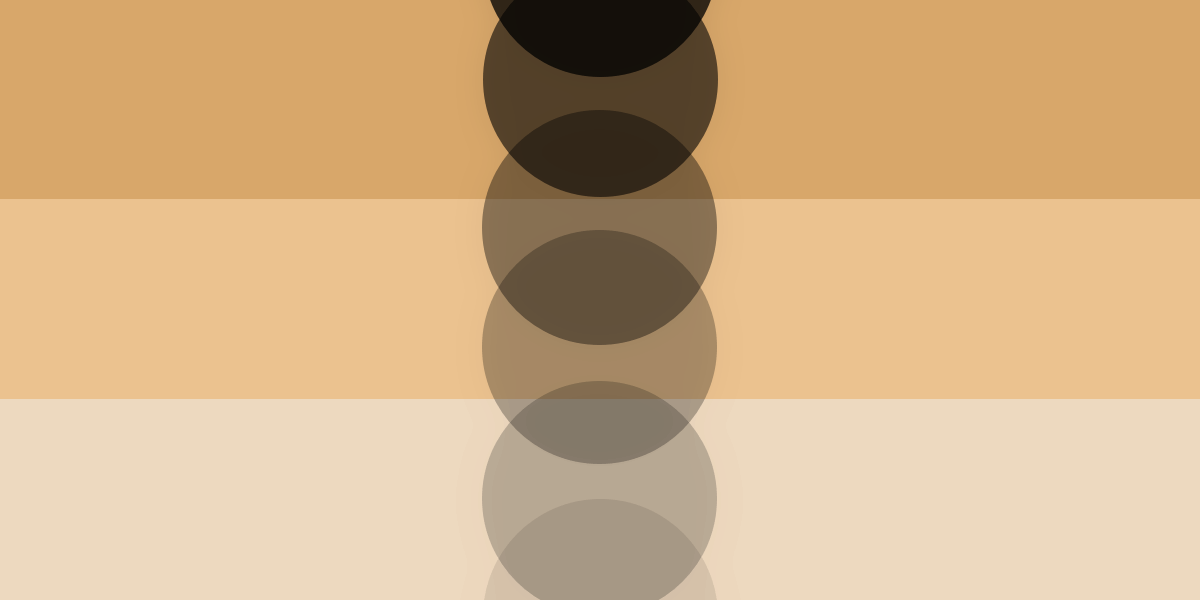 An illustration of concentric circles stacked vertically going from gray to black in ascending order.