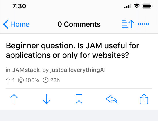 Beginner question. Is JAM useful for applications or only for websites?