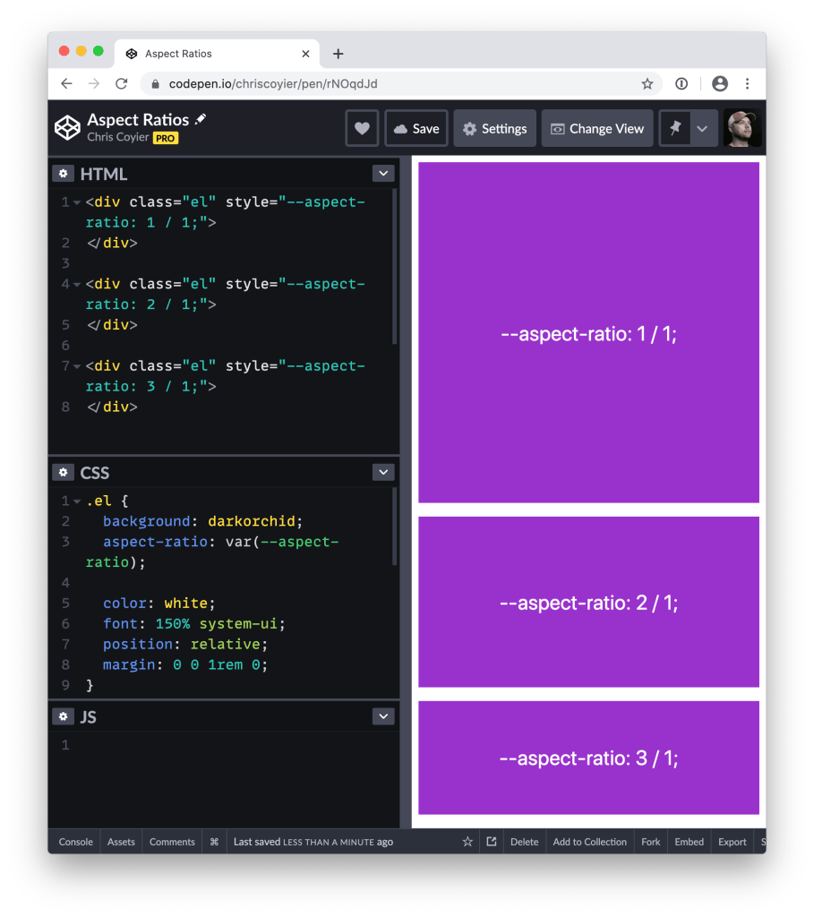 A First Look at `aspect-ratio` 1