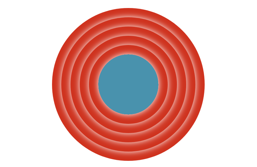 The background and circles in pure CSS without Porky
