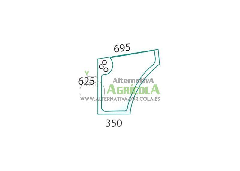 Cristal Lateral Inferior Izquierdo Tractores Case IH JX y