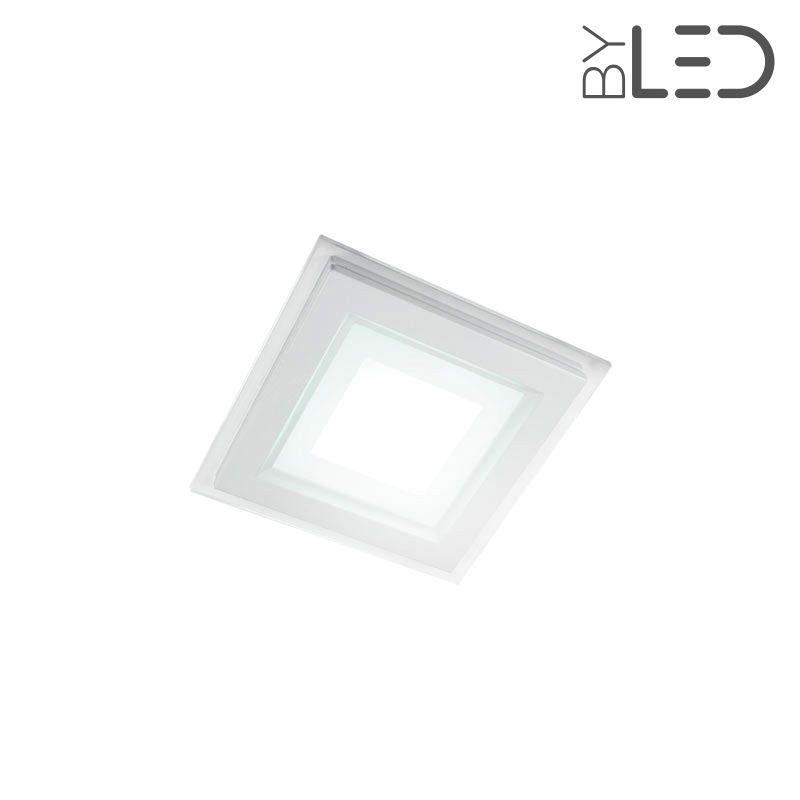 spot led en verre 6w glass 6 carre