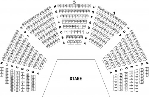 Weisiger Theatre Norton Center For The Arts - Seating Charts