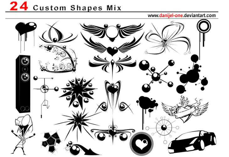 The Huge Collection Of Photoshop Custom Shapes for