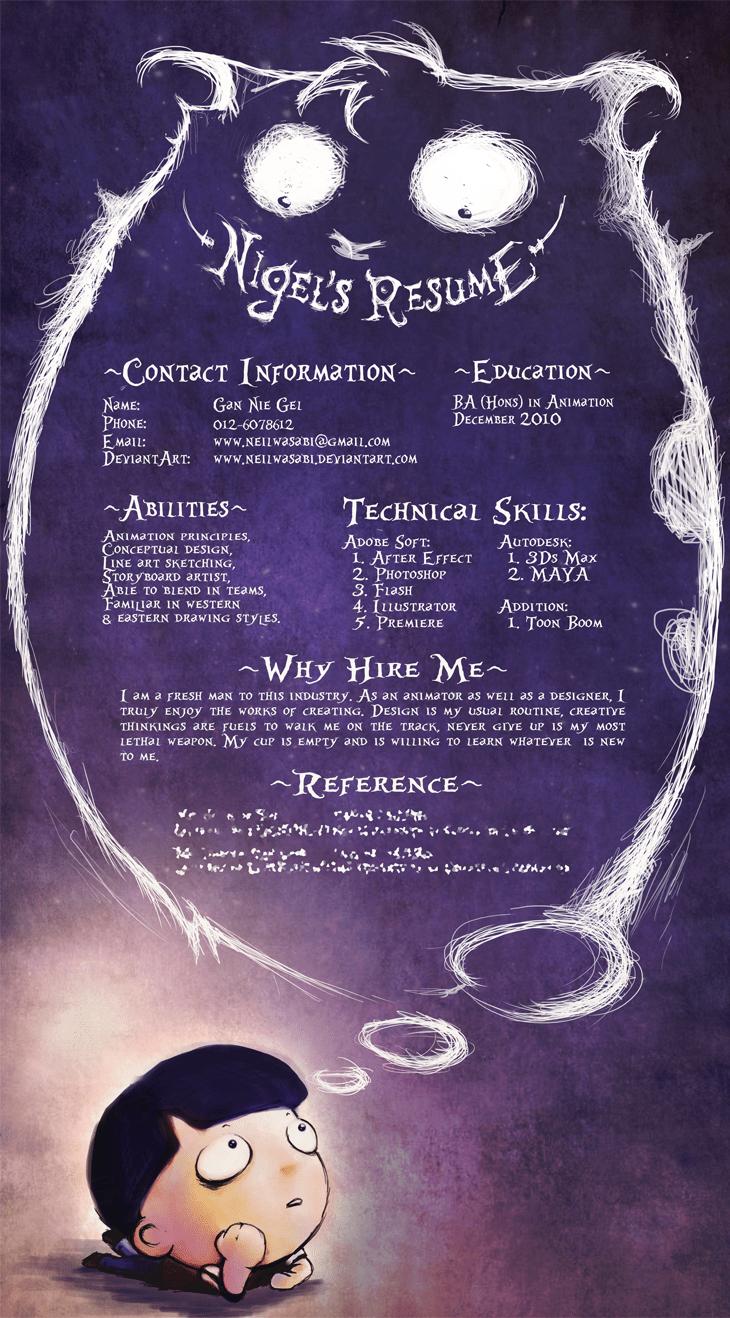 creative resume format design