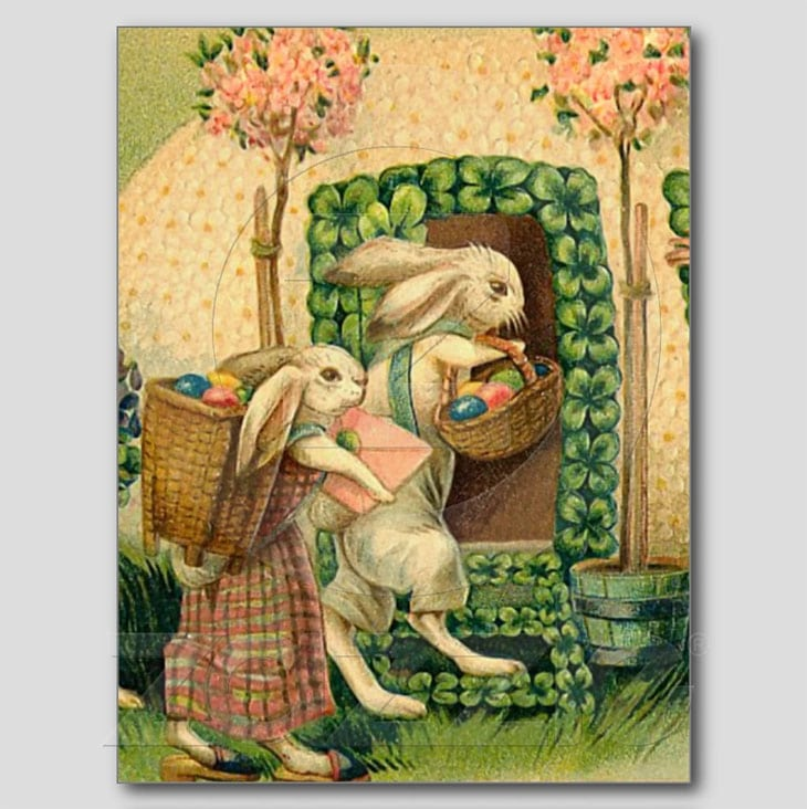 30 Beautiful Vintage Easter Greetings Cards And Postcard