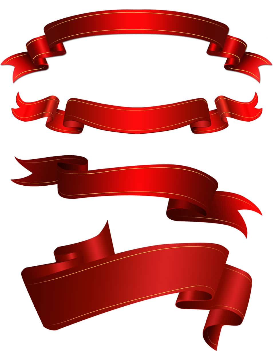 Shape Pita Png : shape, Ribbons, Vector, Files, Designs, Author