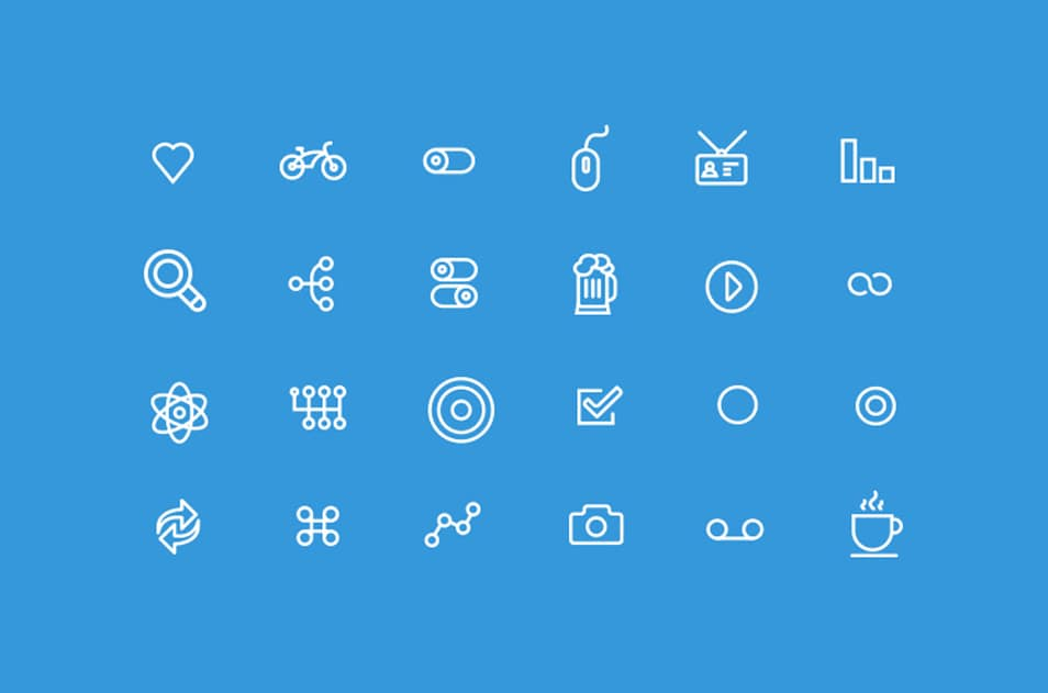 250 Ultimate Collection Of Free Line Icon Sets  CSS Author