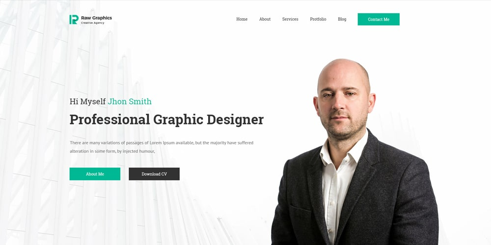 Unika view this free template ». Graphic Designer Portfolio Website Template Free Download