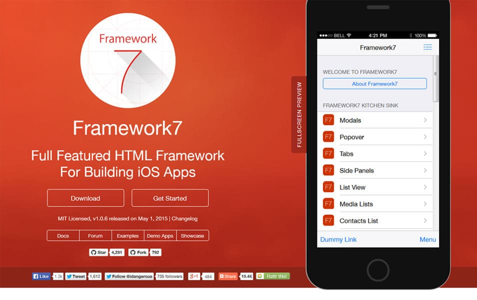50 Mobile Application Frameworks HTML CSS Js