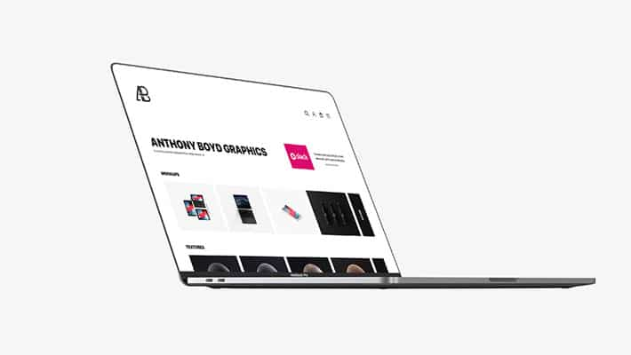 Side View Bezel-Less Macbook Pro With Touch Bar Mockup