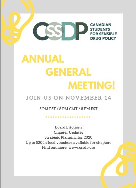 CSSDP AGM 2019 – Nov 14th 2019