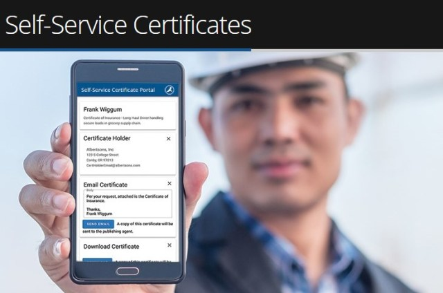 self service certificates of insurance