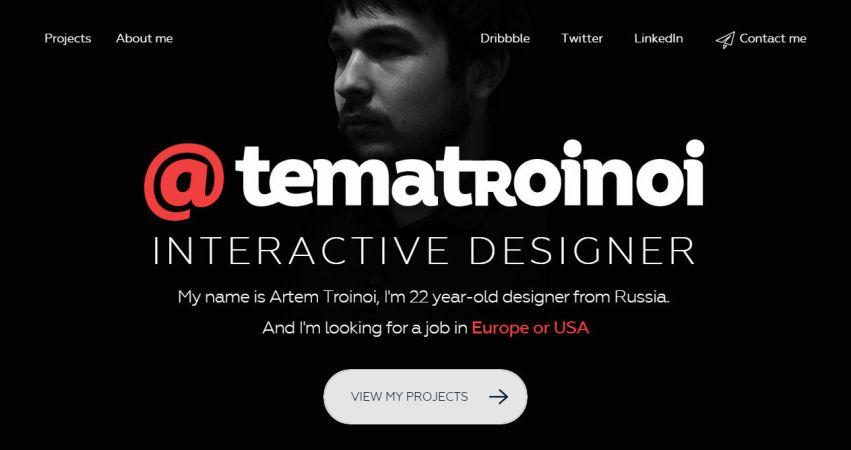 Artem Troinoi portfolio