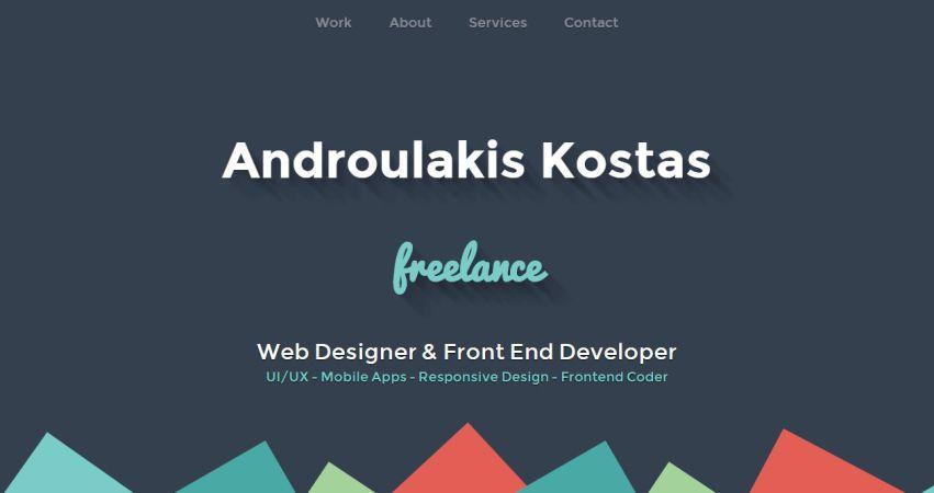 Androulakis Kostas Freelance Web Designer & Front End Developer