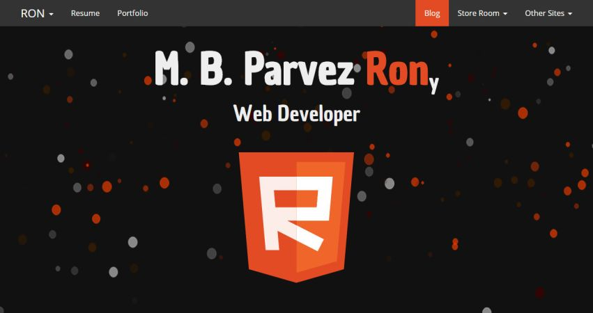 WebDevron - M.B.Parvez Rony